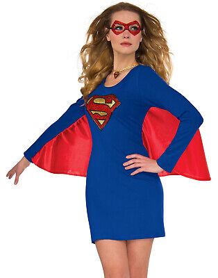 ergirl Kleid und Umhang Halloween KOSTÜM S/M (Erwachsenen Super Girl Kostüm)