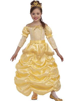 Disney Beauty And The Beast Princess Belle Girls Yellow Halloween Costume