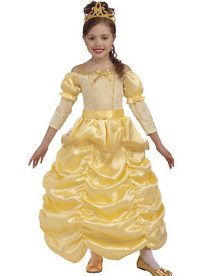 Disney Beauty And The Beast Princess Belle Girls Yellow Halloween Costume
