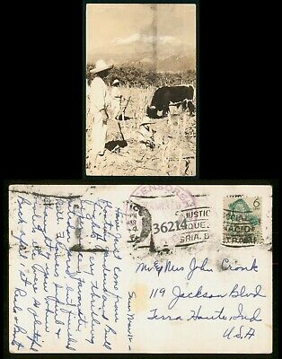 Mayfairstamps Mexico 1940s Censored to Terre Haute Indiana Real Photo Postcard w