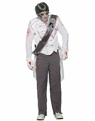 Zombie Mai After Dead Principe Azzurro Uomo Adulto Halloween Costume-Std