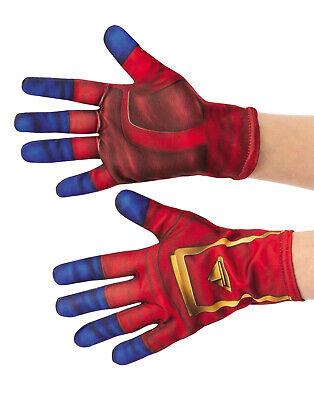 Captain Marvel Mädchen Kind Ms Marvel Superheld Kostüm - Superhelden Handschuhe