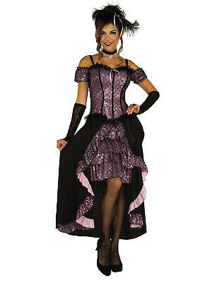 Dance Hall Mistress Women Wild West Saloon Burlesque Costume-Std](Burlesque Halloween Costumes For Women)