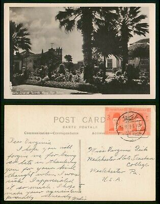 Egypt 1945 Port Said to Manchester PA Canary Islands Real Photo Postcard