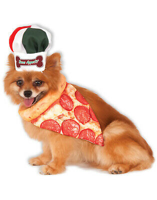 Dog Chef Hat (Pizza Chef Pet Dog Cat Peperoni Bandana Collar Hat Costume)