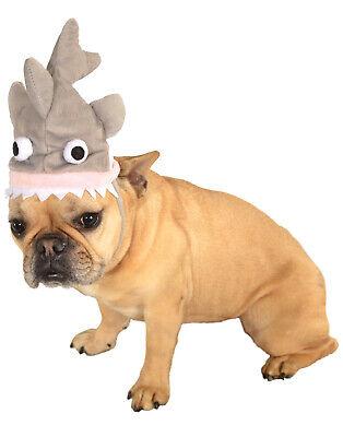 Grau Beißen Hai Sharknado Haustier Hund Katze Lustiges Kostüm Hut (Katze Hunde Hai Kostüm)