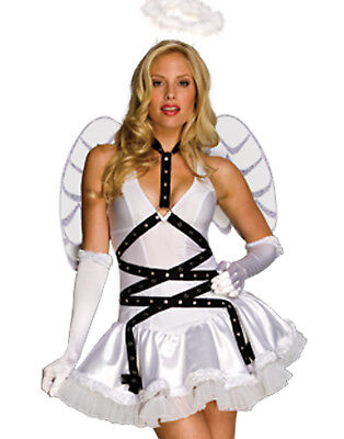 Taste Of Heaven Sexy White Angel With Wings Womens Halloween Party Costume M