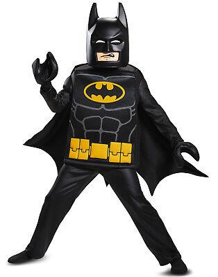 Batman Lego Movie Boys Deluxe Batman Superhero Halloween Costume-M