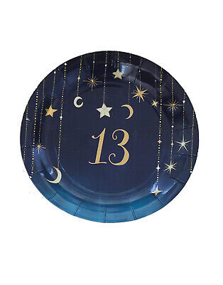 13th Birthday Party Themes (13Th Birthday Starry Night Themed Girls Party 7 Inch Round Plates 8)