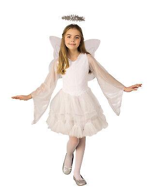 Deluxe Engelsblau Mädchen Kind Weiß Weihnachten Krippe Religiös Kostüm