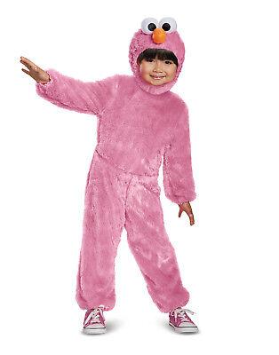 Sesame Street Pink Elmo Toddler Girls Comfy Fur Halloween - Elmo Toddler Costumes