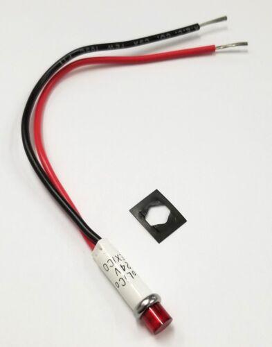 """Solico 1813 RED 24V DC LED Indicator Pilot Light, 0.312"""" Round Hole Mount"""