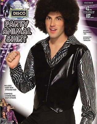 Men Animal Costumes (Disco Party Animal Mens Adult 80S Dude Halloween Costume)