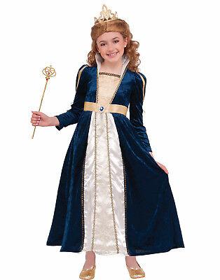 Königliche Marine Blau Prinzessinnenkleid Mädchen Kind Halloween Kostüm