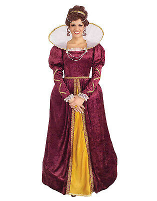 Queen Elizabeth Womens Adult Medieval Renaissance Halloween Costume-Std