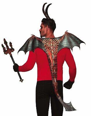 Dämonen und Teufel Erwachsene Evil Halloween Kostüm Wings und Schwanz Satz ()