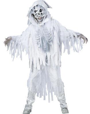 Haunting Spirit White Skeleton Ghost Ghoul Boys Child Halloween Costume - Spirit Halloween Costumes For Boys
