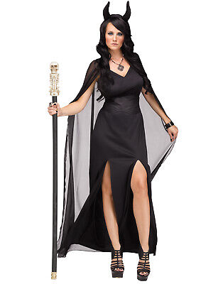 Keeper Of The Damned Womens Black Lucifer Devil Halloween Costume