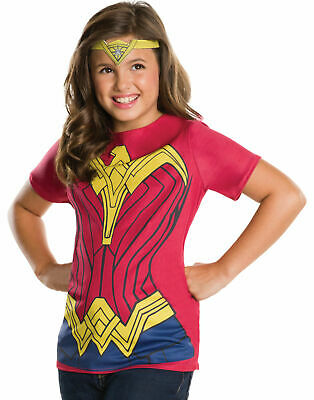 Rubie's Batman v Superman: Dawn of Justice Wonder Woman Child Top and Tiara, L
