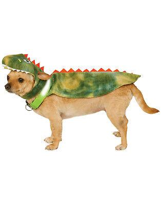 Pet Light Up Dinosaur T-Rex Dog Cat Cape With Headpiece Costume