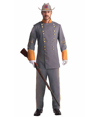 Civil War Adult Military Confederate Officer Historical Halloween Costume - Std