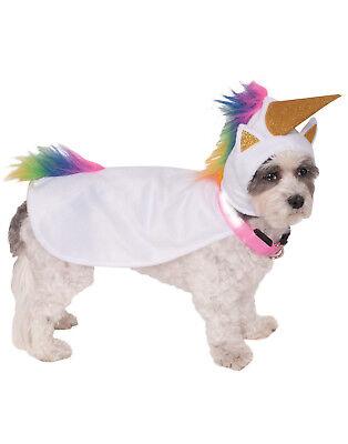 Hund Halloween Kostüm Licht Up Einhorn Umhang mit Kapuze (Einhorn Kostüm Hund)