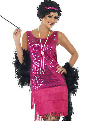 The Great Gatsby Halloween Costume (The Great Gatsby Roaring 20'S Sexy Pink Flapper Halloween Costume)