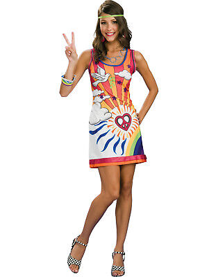Sexy 60S 70S Hippie Mod Go Go Disco Girl Womens Halloween Costume