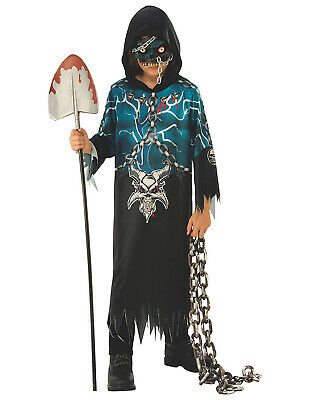 Evil Demon Boys Child Grim Reaper Devil Halloween Costume (Devil Costume For Boys)