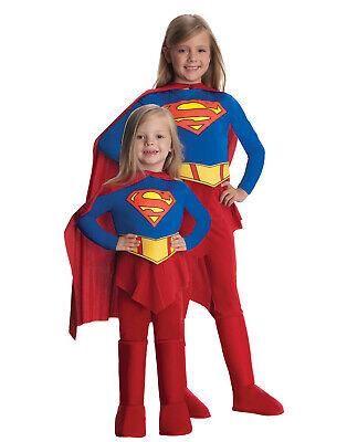 Mädchen Supergirl Superheld Klassisch Halloween KOSTÜM S