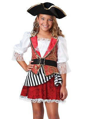 Pirates Of The Caribbean Costumes For Girls (Pirates Of The Caribbean Girls Kids Girls Captain Buccaneer Halloween Costume)