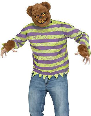 Furry Creepy Brown Killer Bear Adult Halloween Costume Set-Std ()