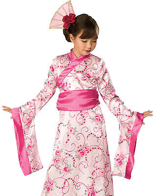 Geisha Toddler Asian Princess Pink Kimono Girls Halloween Costume](Halloween Geisha)