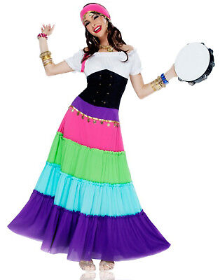 Bohemian Gypsy Esmeralda Renaissance Dress Adult Plus Size Costume - Medium