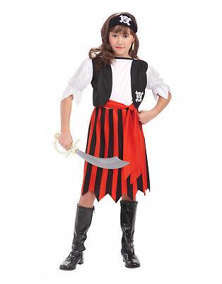 Piraten Mädel Mädchen Kind Bootlegger Seeräuber Halloween COSTUME-M