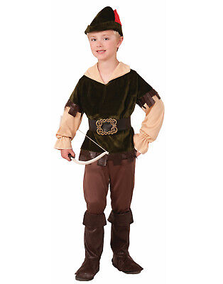 Child Robin Costume (Archer Woodsman Boys Child Robin Hood Fairytale Halloween)