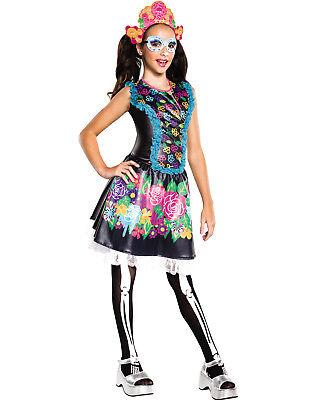 Skelita Calaveras Monster High Mädchen Tag der Toten Skelett Halloween Kostüm ()