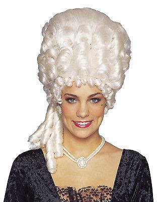 tinblond Weiß Puder Viktorianisch Damen Kostüm Perücke (Marie Antoinette Kostüm Perücke)