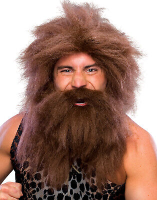 Pre-Historic Caveman Jungle Man Barbarian Conan Mens Halloween Costume Wig (Caveman Halloween)