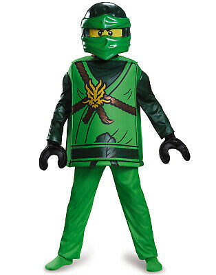 Lego Ninjago Ninja Halloween Costume (Lloyd Garmadon Ninjago Green Energy Lego Ninja Leader Boys Halloween)
