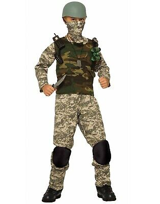 Combat Trooper Boys Child Army Solider Halloween Camo Costume (Army Halloween Costumes For Boys)