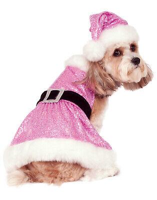 Pailletten Frau Weihnachtsmann Haustier Hund Katze Pink Weihnachten Kostüm