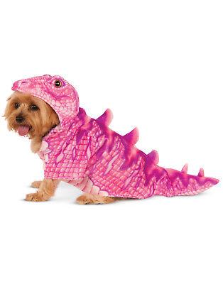 Pink Dinosaur T-Rex Pet Dog Cat Halloween Costume Hoodie Sweater
