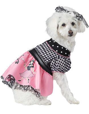Rosa Pudel Hund Kostüm (594mS Pudel Rock Pooch 15.2mS Rosa Kleid Haustier Halloween Kostüm)