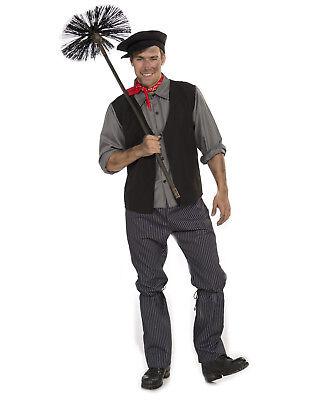 Spazzacamino Costume Mary Poppins Bert Vittoriano da Lavoro Costume-Std