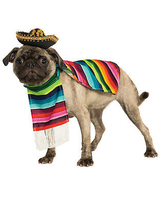 Dog Pet Dress Up Taco Bell Mexican Serape Pet Costume