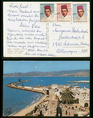 Mayfairstamps Morocco 1976 to DDR Germany Postcard wwo80961
