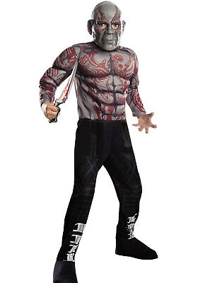 Guardians Of The Galaxy Drax The Destroyer Boys Halloween Costumes M - Drax The Destroyer Halloween