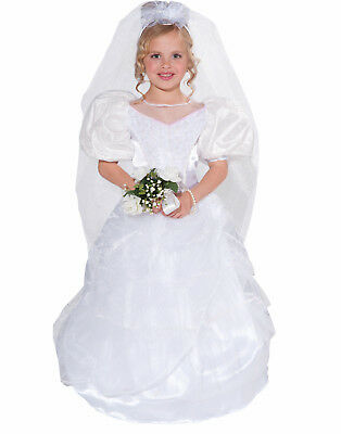 First Dance With Daddy Little Bride Wedding Dress Girl Halloween Costume - Daddy Daughter Halloween Costumes