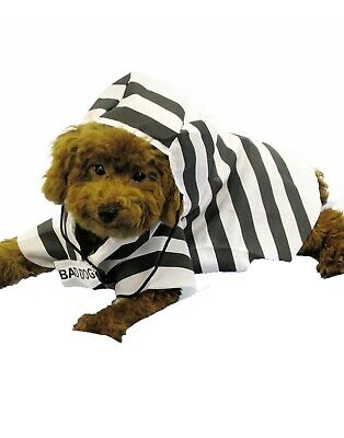 Prisoner Pet Convict Inmate Jailbird Halloween Dog Cat Costume - Prisoner Halloween Costumes For Dogs